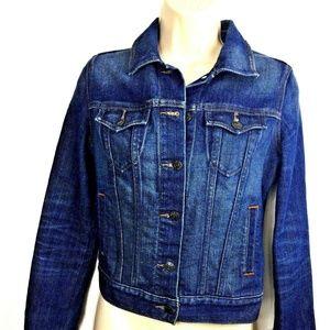 Old Navy Womens Dark Wash Denim Jean Jacket Size X